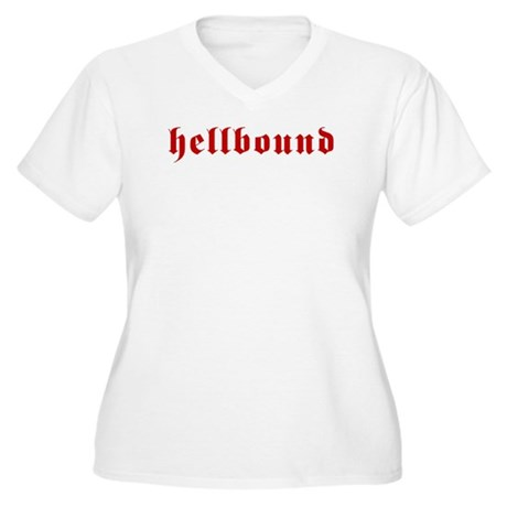 Hellbound Women's Plus Size V-Neck T-Shirt