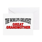 """The World's Greatest Great Grandmother"" Greeting"