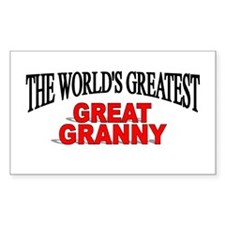 """The World's Greatest Great Granny"" Decal"