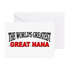 """""""The World's Greatest Great Nana"""" Greeting Cards ("""