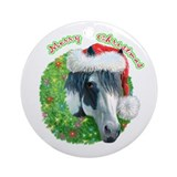Merry Christmas Ziggy Ornament (Round)