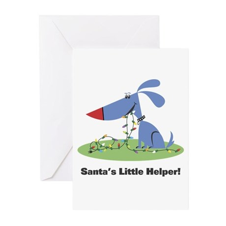 Santa's Dog Helper Greeting Cards (Pk of 10)