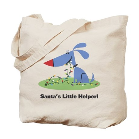 Santa's Dog Helper Tote Bag