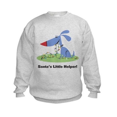Santa's Dog Helper Kids Sweatshirt