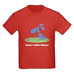 Santa's Dog Helper Kids Dark T-Shirt