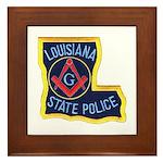 LA State Police Mason Framed Tile