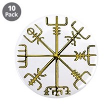 "Gold Vegvisir 3.5"" Button (10 pack)"