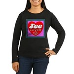 Tee Lover Framed Women's Long Sleeve Dark T-Shirt