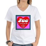Tee Lover Framed Women's V-Neck T-Shirt