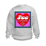 Tee Lover Framed Kids Sweatshirt