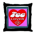 Tee Lover Framed Throw Pillow