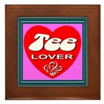 Tee Lover Framed Framed Tile
