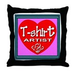 T-shirt Artist Framed Throw Pillow