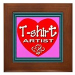 T-shirt Artist Framed Framed Tile