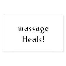 massage Heals! Rectangle Decal