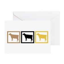 Cow Squares Greeting Card
