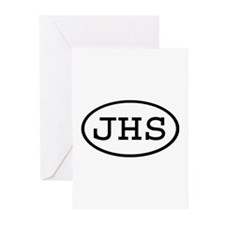 JHS Oval Greeting Cards (Pk of 20)