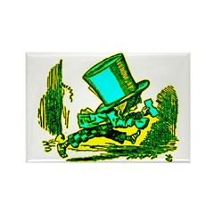 Mad Hatter Running Rectangle Magnet