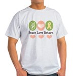 Peace Love Yellow Ribbon Light T-Shirt
