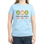 Peace Love Yellow Ribbon Women's Light T-Shirt