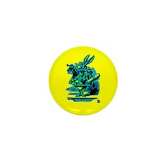 White Rabbit with Trumpet Mini Button (100 pack)