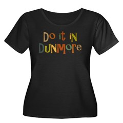 Do It In Dunmore Women's Plus Size Scoop Neck Dark