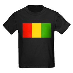 Guinea Blank Flag Kids Dark T-Shirt