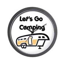Let's Go Camping Wall Clock