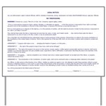 Legal Notice#1 Landscape Yard Sign