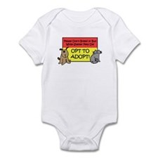 Don't Breed or Buy - Opt to A Infant Bodysuit