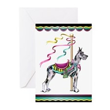 Great Dane Merle Carousel Greeting Cards (Pk of 20