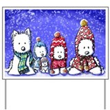 WINTER WESTIES Yard &amp;amp; Garden Art