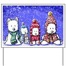 WINTER WESTIES Yard & Garden Art