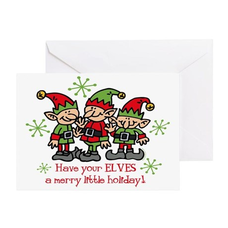 Merry Elves Greeting Card