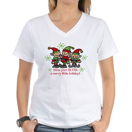 Merry Elves Women's V-Neck T-Shirt