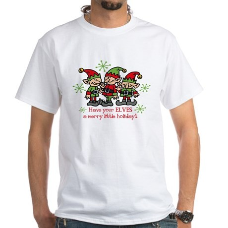 Merry Elves White T-Shirt