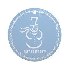 Ice Day Christmas Ornament (Round)