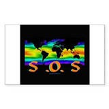 Global Warming SOS Rectangle Decal