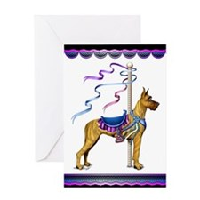 Great Dane Brindle Carousel Greeting Card