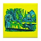 Alice at Tea Party Tile Coaster