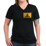 Don't Tread on Me! Women's V-Neck Dark T-Shirt
