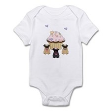 Pug Dog Cupcakes Infant Bodysuit