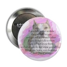 "Cute Staffordshire dog 2.25"" Button (10 pack)"
