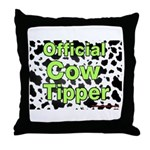 Official Cow Tipper Throw Pillow