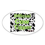 Official Cow Tipper Oval Sticker