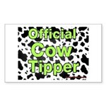 Official Cow Tipper Rectangle Sticker