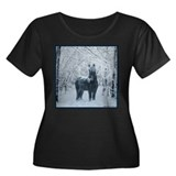 Winter horse. Christmas horse Women's Plus Size S