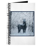 Winter horse. Christmas horse Journal