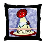 Angels aliens or dreams Throw Pillow