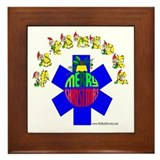 Paramedic Holiday Gifts Framed Tile
